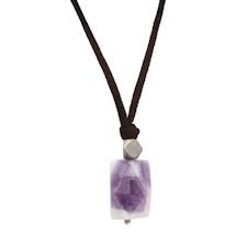 Lilac Stone Nugget Necklace