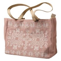 Embroidered Folk Art Tote