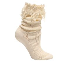 Lace-Topped Slouch Socks