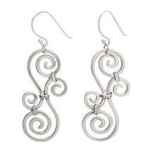 Sterling Over-Under Scroll Earrings