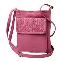 Criss-Cross Leather Crossbody Bag