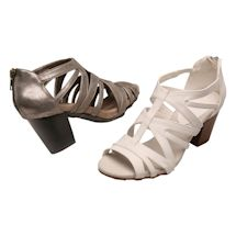 Easy Street® Open Art Heeled Sandal