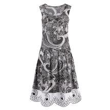 Paisley Scallop Hem Dress