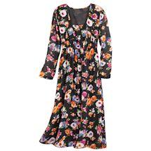 Dahlia Garden Crepe Dress