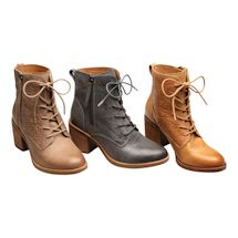 Embossed Leather Fashion Bootie