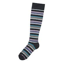 Striped Graduated Compression Woven Knee-Highs
