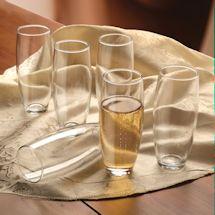 Stemless Champagne Flutes Set