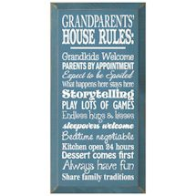 Grandparents' House Rules Sign
