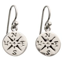 Sterling Compass Earrings