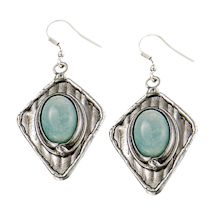 Amazonite Statement Earrings