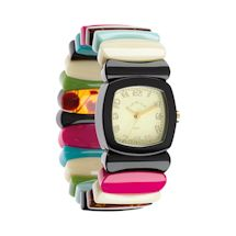 Multi-Stripe Stretch-Band Watch