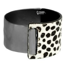 Leather Animal Print Bracelet