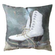 Vintage Winter Games Reversible Pillows