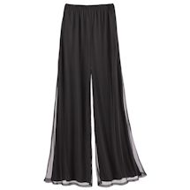 Sheer Overlay Dress Pants