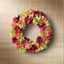 Hydrangea Blooms Wreath