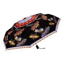Compact Laurel Burch Dragonflies Umbrella