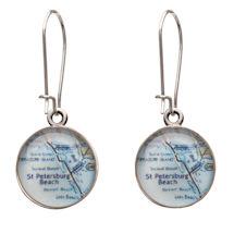 Engraved Custom Map Earrings