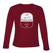 Personalized Age to Perfection Year Ladies Long Sleeve Shirt