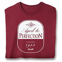 Personalized Age to Perfection Year Ladies T-Shirt