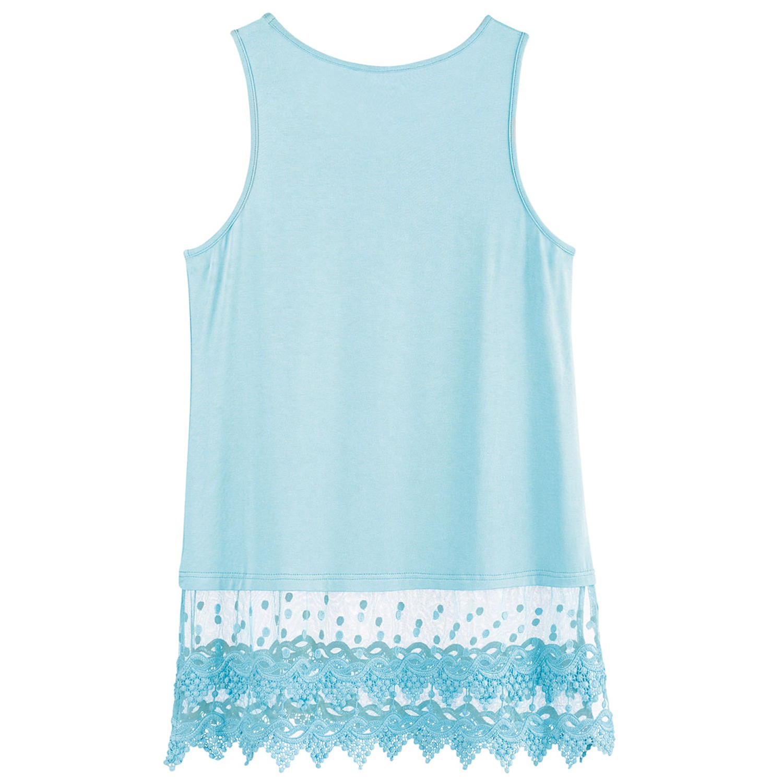 Women-039-s-Lace-Trim-Layering-Tunic-Tank-Top-Extends-Shirt-Blouse-Length-30 thumbnail 8