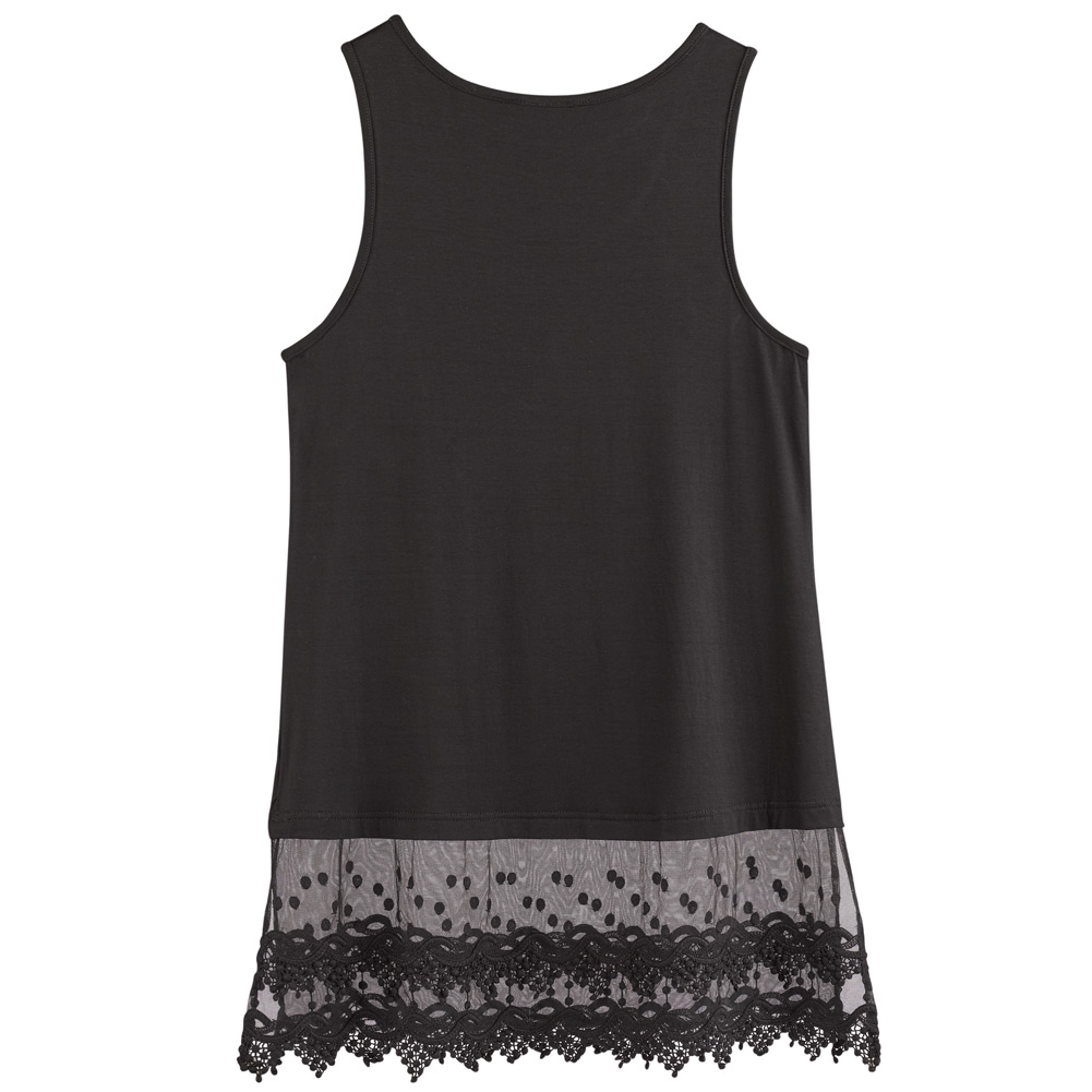 Women-039-s-Lace-Trim-Layering-Tunic-Tank-Top-Extends-Shirt-Blouse-Length-30 thumbnail 10