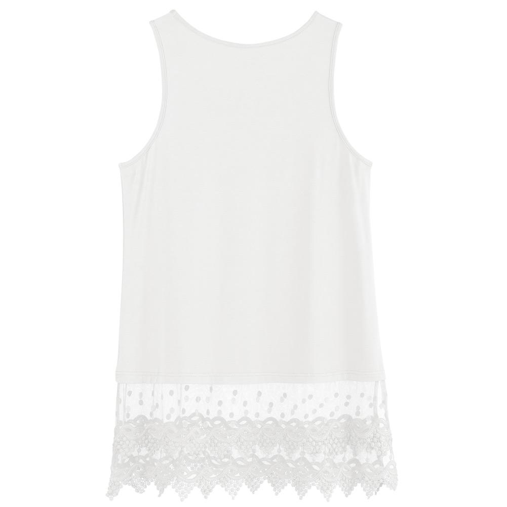 Women-039-s-Lace-Trim-Layering-Tunic-Tank-Top-Extends-Shirt-Blouse-Length-30 thumbnail 16